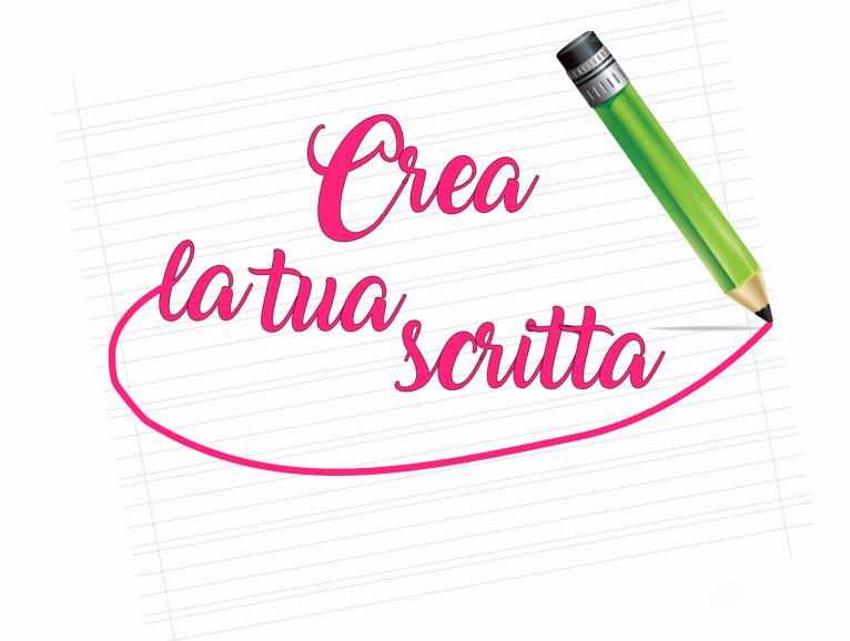 La tua scritta personalizzata